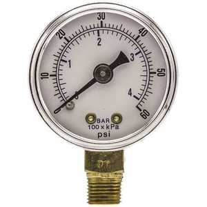 ENGINEERED SPECIALTY PRODUCTS 101D-204D 100 Series 2 in. Dial 1/4 NPT Lower Mount 60 psi Utility Accessory