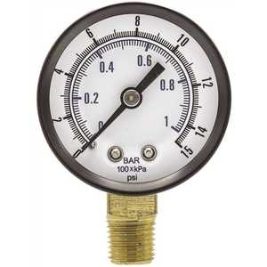 ENGINEERED SPECIALTY PRODUCTS 101D-204B 100 Series 2 in. Dial 1/4 NPT Lower Mount 15 psi Utility Accessory