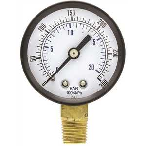ENGINEERED SPECIALTY PRODUCTS SE-101D-204H 100 Series 2 in. Dial 1/4 NPT Lower Mount 300 psi Utility Accessory