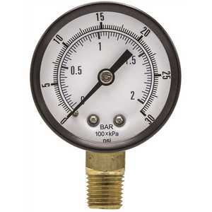 ENGINEERED SPECIALTY PRODUCTS SE-101D-204C 100 Series 2 in. Dial 1/4 NPT Lower Mount 30 psi Utility Accessory