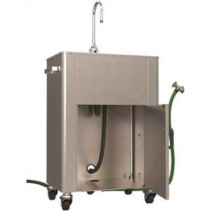 ACORN Engineering PS1015-F40 Deluxe Portable Hand-Wash Station, 14-1/2 in. Basin, Hose In, Hose Out, Single Handle Gooseneck