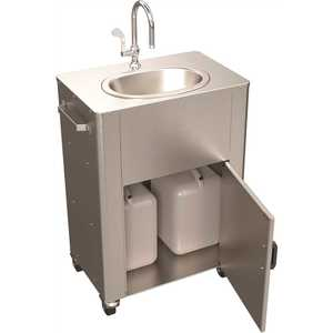 ACORN Engineering PS1030-F40 Deluxe Portable Hand-Wash Station, Elec Pump, Tank In, Tank Out, S/T Gooseneck