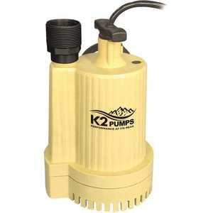 K2 UTA02502K 1/4 HP Automatic Submersible Utility Pump