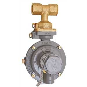 Excela-Flo MEGR-1232T-HBF MEC Excela-Flo Integral 2-Stage Tee Inlet Domestic Regulator, Compact, F. Pol Tee x 1/2 in. FNPT