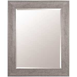 Pinnacle 16FP1797 48 in. x 38 in. Graywash Framed Beveled Mirror