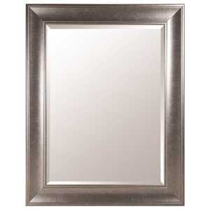 Pinnacle 16FP1799 48 in. x 38 in. Black Nickel Framed Beveled Mirror