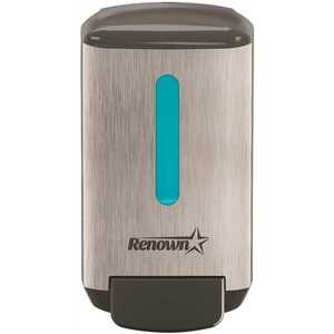 Renown REN05188 RB4 Manual Foam Handwash Dispenser, Brushed Metallic / Black