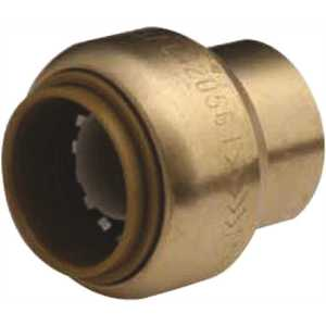 SharkBite U514LF 1/2 in. Brass Push-to-Connect End Stop