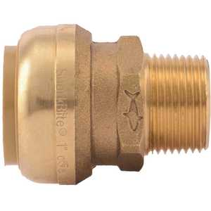 SharkBite U142LF 1 in. x 3/4 in. MNPT Brass Push-to-Connect Reducing Connector, Male NPT