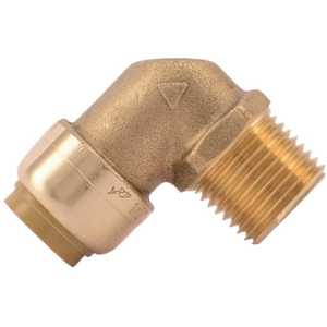 SharkBite U280LF 1/2 in. Brass 90-Degree Push-to-Connect x MNPT Elbow