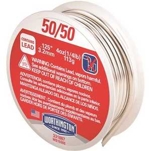 Worthington 331887 4 oz. 0.125 in. 50/50 Leaded Solder