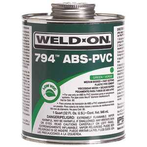 Weld-On 10275 8 oz. ABS PVC 794 Transition Cement in Green