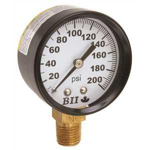 Boshart Industries PG-200NL PRESSURE GAUGE 0 TO 200 PSI, 2 IN. FACE, LEAD FREE