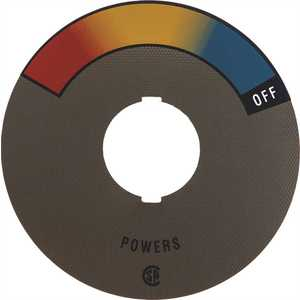 POWERS PROCESS CONTROLS 410-374 POWERS DIAL INSERT RAINBOW