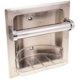 Proplus 555945 9 in. Recessed Soap Dish in Chrome