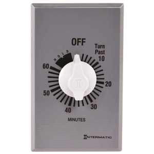 Intermatic FF60MC FF 20 Amp 60-Minute Indoor In-Wall Auto-Off Spring Wound Timer, Gray