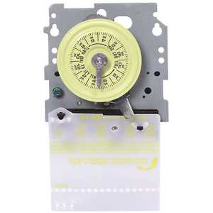 Intermatic T103M T100 Series 120-Volt 24-Hour Indoor/Outdoor Mechanical Timer Switch Mechanism Only SPST, Gray/Metal