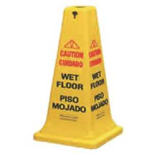 Rubbermaid FG627600YEL 36 in. Plastic Multi-Lingual Caution Safety Cone