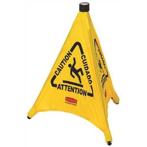 Rubbermaid RCP9S0000YW 20 in. Multi-Lingual Caution Safety Cones