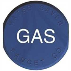 """WATERSAVER FAUCET CO PA032 (GAS) WATERSAVER INDEX CAP """"GAS"""" (BLUE)"""