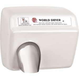 WORLD DRYER XA5-974 HAND DRYER, WHITE, 9.5X11.3X8.3 IN., 115 VOLTS, 20 AMPS