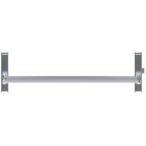 CRL DL1190RHRA Satin Aluminum Cross Bar Panic Exit Device - Right Hand Reverse Bevel Rim