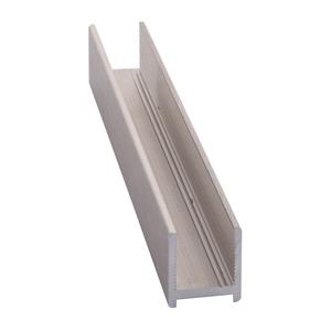 CRL DUC38BN Brushed Nickel Dry Glaze U-Channel With Vinyl