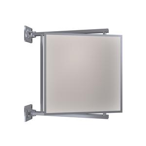 "CRL PV11CH Polished Chrome 11"" x 11"" Pivot-N-Vue Double Hinged Mirror"