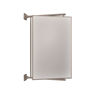 "CRL PV14BN Brushed Nickel 14"" x 22"" Pivot-N-Vue Double Hinged Mirror"