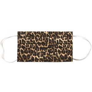 Planet Earth Eyewear MASK-AP01-10 Planet Earth Disposable Adult Face Mask, Leopard - pack of 10