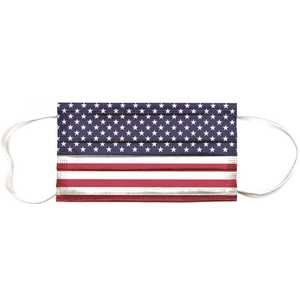 Planet Earth Eyewear MASK-AP05-10 Planet Earth Disposable Adult Face Mask, American Flag - pack of 10