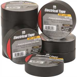 Gardner Bender GTP-607 3/4 in. x 60 ft. Vinyl Electrical Tape - Black