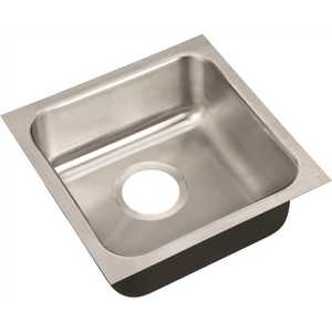 18-Gauge Stainless Steel 14 in. O.D. x 14 in. x 5.5 in. DCR Single Bowl ADA Compliant Undermount Sink
