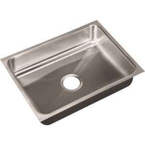 JUST MANUFACTURING US-ADA-1824-A-5-5-DCC 18-Gauge Stainless Steel O.D. 18 in. x 24 in. x 5.5 in., DCC Single Bowl ADA Compliant Undermount Sink