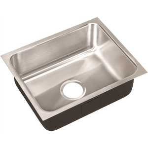 JUST MANUFACTURING US-13518-A 18-Gauge Type 304 Stainless Steel 13.5 in. O.D. x 18 in. Single Bowl Undermount Kitchen Sink