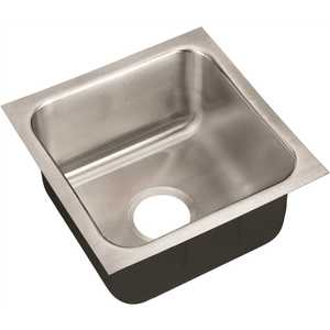 JUST MANUFACTURING US-1616-A 18-Gauge Type 304 Stainless Steel 16 in. O.D. x 16 in. Single Bowl Undermount Kitchen Sink