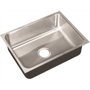 JUST MANUFACTURING US-1824-A 18-Gauge Type 304 Stainless Steel 18 in. O.D. x 24 in. Single Bowl Undermount Kitchen Sink