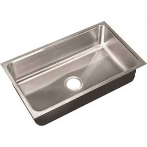 JUST MANUFACTURING US-1830-A 18-Gauge Type 304 Stainless Steel 18 in. O.D. x 30 in. Single Bowl Undermount Kitchen Sink