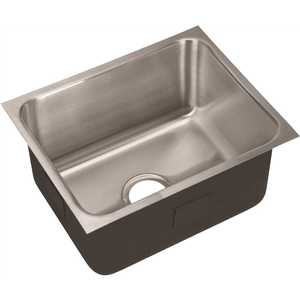 JUST MANUFACTURING USX-1620-A 18-Gauge Stainless Steel 16 in. O.D. x 20 in. Single Bowl Undermount Deep Sink
