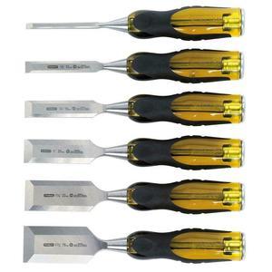 Stanley ST16971 6-Piece Deluxe Steel Glaziers Chisel Set