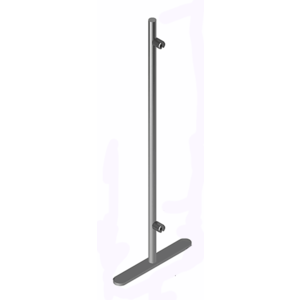 CRL PP36E Round Portable Partition End Post, 36 (914 mm) Height x 1 (25 mm) Diameter