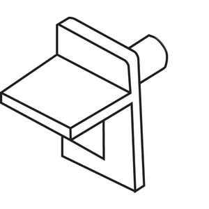 Brixwell 45-99 Shelf Support Tan Plastic 1/4in Diameter 5/16in Length