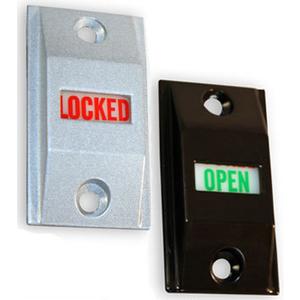 International Door Closers LI-4089-AL International Commercial Storefront Door Lock Indicator Set - LI 4089