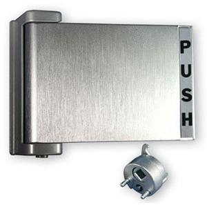 International Door Closers PH-4522-AL International Commercial Storefront Door Paddle Handle Push R. PH-4522 Baked Dull Aluminum Paint