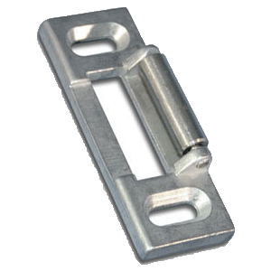 International Door Closers ST-6312-DU Surface Roller Strike For International Rim Panic Hardware Storefront Bronze