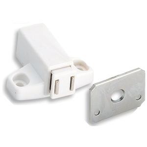 Amerock d323011p1 Amerock Single Magnetic Touch Latch, White