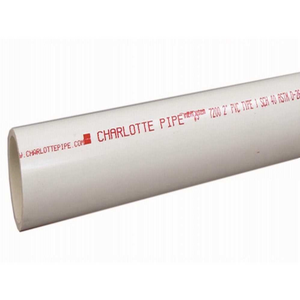 Charlotte Pipe and Foundry Company PVC 07600  0600 Charlotte Pipe 6 in. x 10 ft. PVC Schedule 40 DWV PE Solid Core Pipe