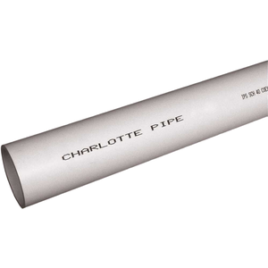 Charlotte Pipe and Foundry Company PVC 04600 0600 Charlotte Pipe 6 in. x 10 ft. PVC DWV Sch. 40 Foam Core Pipe