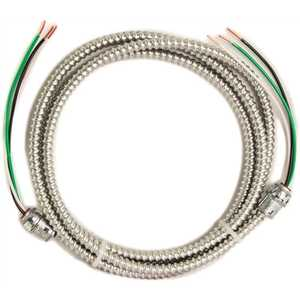 Southwire 56482201 10 ft., 12/2 Solid CU MC (Metal Clad) Armorlite Modular Assembly Quick Cable Whip