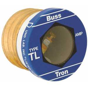 Cooper Bussmann TL-15 TYPE TL TIME DELAY GLASS PLUG FUSE, 125 VOLTS, 15 AMPS